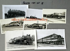 FRISCO SET OF 8 STEAM AND DIESEL PHOTOS ON PC AND 616 SIZE STOCK
