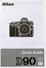 Nikon D90 English (En) Quick Guide Manual
