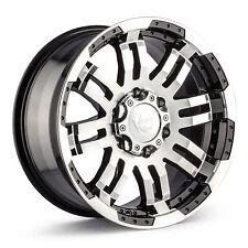 "17"" Vision 375 Warrior Black Machined Wheel 17x8.5 8x6.5 18mm Chevy GMC 8 Lug"