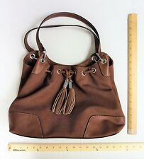 340141b21f Women s Chaps Big BROWN Hand Bag Ladie s Purse FRINGE TASSEL FLASH SALE