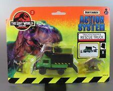 VTG MATCHBOX 2 diecast jurassic park The Lost World Rescue Truck Tracker 1997