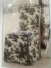Waverly Garden Room Wellington Scenic Black Toile Dining Room Chair Cover New