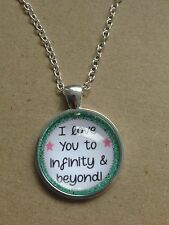 """I Love You to Infinity & Beyond Silver Plated 18"""" Necklace New in Gift Bag"""