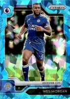 2019-20 Panini Prizm English Premier League Prizms Blue Ice #73 Wes Morgan /75