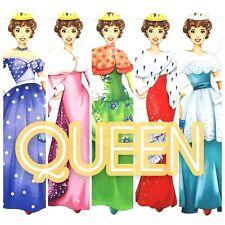 QUEEN 2 Paper dolls. Fairy Tale Fashion Fun Princess Princesses