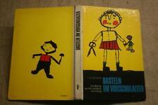 Bastelbuch für Kindergarten, Werken, Papierarbeiten, Holz, Pappe, Kork, DDR 1970