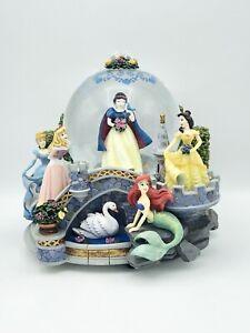 Disney Princess Musical Snow Globe Snow White Ariel Belle Cinderella & Aurora