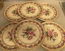 "Lot of 6 Vintage Rosenthal Ivory Bavaria VIENNA 10.25"" Dinner plates 2 of 11"