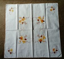 VINTAGE, HAND CRAFTED SMALL APPLIQUE TABLE CLOTH, NEVER USED
