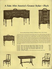 1937 PAPER AD Wood Dining Room Suite Phyfe Jacobean Furniture Buffet Table Chair