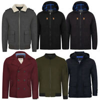 New Mens Tokyo Laundry Dissident Wool Rich Lined Winter Jackets Size S-XXL