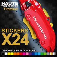 Stickers autocollants adhésifs pour étrier de frein - AUDI Quattro S3 S4 S5 S6
