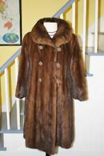 Glamorous Vintage Sable Brown MINK Fur Coat Original Buttons Women's M