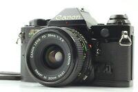 【MINT】Canon AE-1 Program 35mm SLR Black & New FD 28mm f/2.8 Lens From Japan