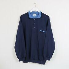 Vintage Navy & Baby Blue de viento Sportswear polo Sudadera Jumper | Mediano