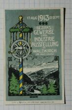 District Trade & Industry Exhibition Waldkrich 1913 Exposition Poster Stamp Ads