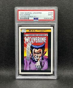 🔥1990 Impel Marvel Universe Wolverine Limited Series #1 MVC #133 HTF X-Men