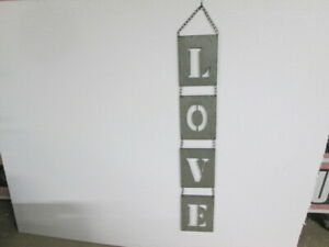 Rustic Galvanized LOVE Hanging Cutout Letter Sign Cool Shabby Chic Farmhouse