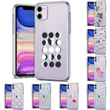 Thin Gel Design Protective Phone Case Cover for Apple iPhone 11,Moon Style Print