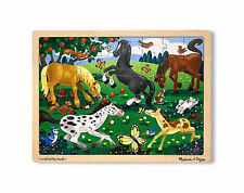HORSE & WESTERN GIFTS KIDS CHILDREN  HAND CRAFTED WOODEN PONY PUZZLE 48pcs