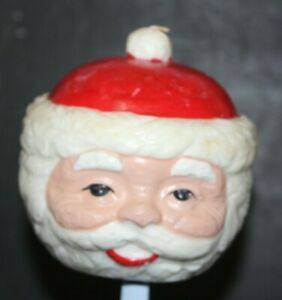 Vintage Santa Claus Candle Chubby Face Decoration Christmas Wax Saint Nicholas