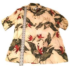 Iolani Executive Hawaii Floral Hawaiian Rockabilly VLV Mens Size Large Shirt