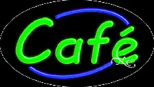 "Brand New ""Cafe"" 30x17 Oval Solid/Flashing Real Neon Sign w/Custom Options 14028"
