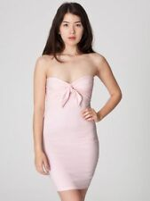 AMERICAN APPAREL Light Pink Cotton Spandex Jersey Bandeau Tight Pencil Dress S