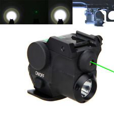 Q5 LED Flashlight & Green Dot Laser Sight Scope Combo 20mm Rail For Gun Hunting