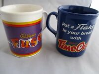 Two Vintage Collectable Cadburys Time Out and Fuse Mugs - Staffordshire  England