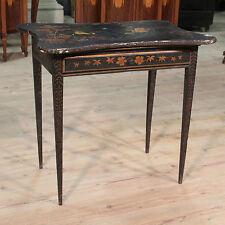 Tavolino tavolo basso scrittoio cineseria legno laccato dipinto stile antico 900