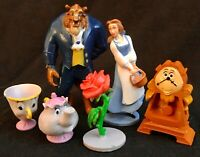BEAUTY AND THE BEAST Figure Play Set DISNEY PVC TOY PRINCESS Cake Toppers BELLE!