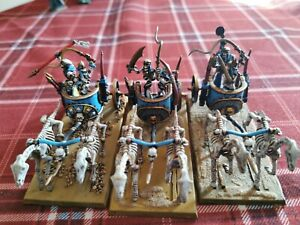 Warhammer Age of Sigmar Khemri Tomb Kings Chariots x3 Well painted