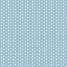 Baumwollstoff Mini Sterne hellblau METERWARE Webware Popeline Stoff