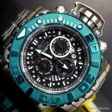 Invicta Sea Hunter II 70mm Black Green Swiss Mvt Stainless Steel Watch New