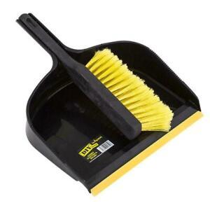 Heavy Duty Dustpan Brush Wide Dust Pan Cleaning Sweeping Garden Large Set