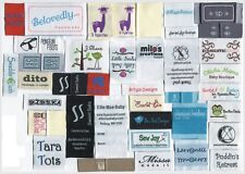 2400 custom text-only woven labels personalized clothing labels Premium Quality
