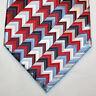 NEW Geoffrey Beene Silk Neck Tie White Red Blue Burgundy Silver Pattern 1187
