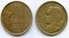 A SAISIR TRES RARE MONNAIE DE 20 FRANCS GEORGES GUIRAUD 1950 B A 4 FAUCILLES !