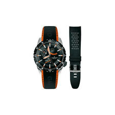 Men's JACQUES LEMANS 1-1584G Liverpool GMT orange + band Brand New
