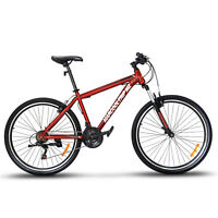 "27.5"" Men's Mountain Bike Hybrid 21 Speed Front Suspension Shimano Bicycle Red"