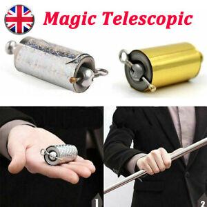 Portable Martial Arts Magic Pocket Metal Telescopic Rod Staff Training Stick UK