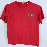 Unisex 2XL Red T-Shirt The Tiki Bar Rum Heads Barbados Accra Beach