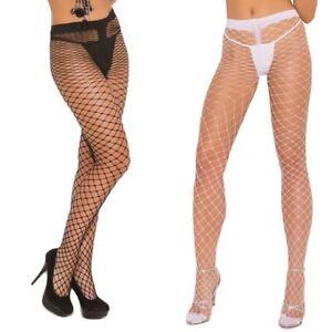 Spandex Diamond Net Panty Hose! Great w Costume Adult Woman Clothing Plus & Reg