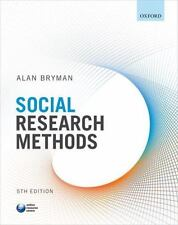 Social Research Methods by Alan Bryman (2016, Paperback)