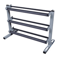 Body-Solid 3 Tier Horizontal Dumbbell Rack GDR363- Gym Storage Fitness Equipment