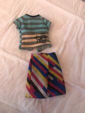Barbie Fashion Avenue Ken Sports Tiki Face Shirt Strip Shorts Serf Swim Trunks