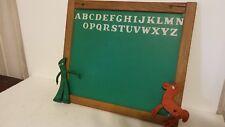 "Rare Vtg Gummy Pokey Wood Tongue Groove ABC Chalkboard 15.5 X 13.5"""