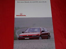 Honda Accord 2.0 ex + 2.0 exi aero-deck folleto de 1986