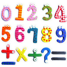 Number 1-10 & 5 symbol Wooden Alphabet Fridge Magnet Child Educational Toy 15pcs